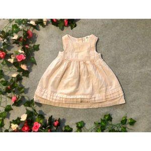 Rose Gold Pinstripe Baby Dress